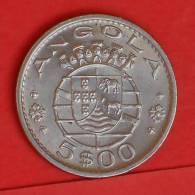 ANGOLA  5  ESCUDOS  1972   KM# 81  -    (1394) - Angola