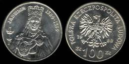 "POLONIA /  POLAND  100  ZLOTYCH  1.988  Cu Ni  Y#183  ""Queen  Jadwiga 1384-1399""  SC/UNC      DL-9458 - Polonia"