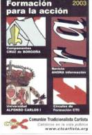 Calendario Comunión Tradicionalista Carlista. 2003. - Documentos