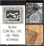 TURKEY , EARLY OTTOMAN SPECIALIZED FOR SPECIALIST, SEE... Postmark - 1866 - Bursa - C/W No. 141 - 1858-1921 Empire Ottoman