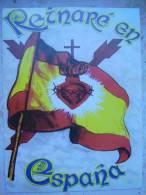 Pegatina Carlista Corazón De Jesús. Reinaré En España. - Documents