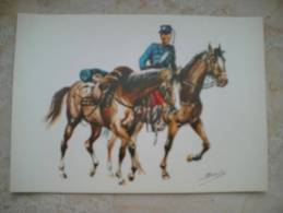 Postal Batidor Regimiento De Cazadores Talavera Nº 15. España. 1880. - Documentos