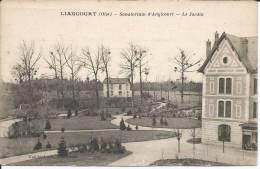 Cpa, Liancourt (Oise), Sanatorium D'Angicourt - Le Jardin - Liancourt