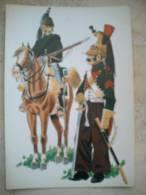 Postal Regimientos De Dragones Divisiones Milhaud Y Latour-Maubourg. Ejército Francés. España. Guerra - Documentos