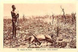 Afrique - Africa -ref A165-republique Centrafricaine - La Chasse - Chasseurs -  Region De Paoua  -arme Primitive Et Mo - - Centrafricaine (République)