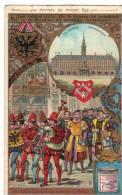 Chromo Ancienne  Liébig Série Anvers Au Moyen Age Les Nécociants De La Hanse Se Rendent à La Bourse N° 4 - Liebig