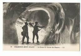 CPA - 74 - CHAMONIX-MONT-BLANC - La Grotte Du Glacier Des Bossons - LL 71 - Chamonix-Mont-Blanc