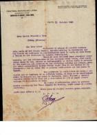 Entête  10/10/1921  -  CEUTA ( Espagne )  CRISTOBAL  BOHORQUEZ  LOPEZ  -  L.  FOUCAULD  à  COGNAC - España