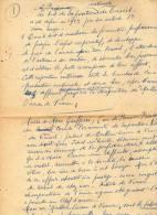 Ecrits Manuscrits De Jean Sgard Maître Graveur à Abbeville (Somme) Sur Le Concours Des Meilleurs Ouvriers De France. - Old Paper