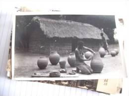 Afrika Africa Afrique Congo Kongo Women Naked Making Jars - Kinshasa - Leopoldville