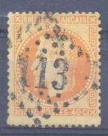 FRANCE NAPOLEON III Lauré N° 31 YT Oblitere Losange Gros Chiffre 113 - 1863-1870 Napoléon III Lauré