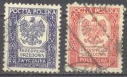 1935 Wappenzeichnung Mi 19-20 / Fi U19-20 / Sc O19-20 / YT 19-20 Gestempelt / Oblitéré / Used - Officials