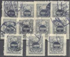1924 Ziffer Auf Adler Mit Schild  Mi 54-64 / Fi D54-64 / Sc J57-67 / YT 51-61 Gestempelt / Oblitéré / Used - Postage Due