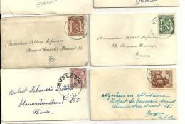 ENVELOPPES ET CARTES DE VISITES  RENAIX 1941-1950  Avelgem Bruxelles Blaton .... - Cartes De Visite