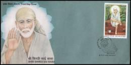India 2008, FDC Cover Sri Shirdi Sai Baba, Mi. 2273 - FDC
