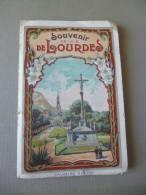 Carnet Chromolithigraphié Viron Souvenir De Lourdes.21 Vues Dont 6 Désolidarisées.En L'état - Lieux