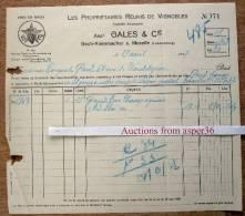 Les Propriétaires Réunis De Vignobles, Anct. Gales & Cie, Bech-Kleinmacher S. Moselle 1937 - Luxembourg