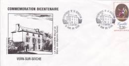 Vern Sur Seiche, France Bretagne 35, Commemoration Bicentenaire Révolution, Manoir Galardiere JP Robinet -18 Juin 1989