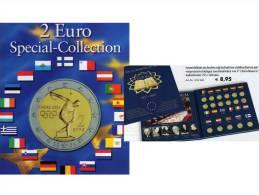 2 Einklick-Alben Für 57 Neue 2EURO-Sondermünzen Plus 50 Jahre Vertrag Rom 2007 Set 18€ Für 17 Verschiedenen Euroländer - Andere Sammlungen