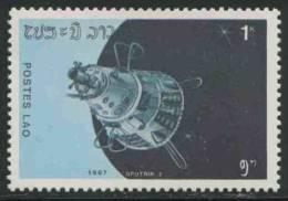 "Laos 1987 Mi 989 ** ""SPUTNIK II"" – 30th Ann. Launch First Artificial Satellite / Raumfahrzeuge - 30 Jahre Weltraumfahrt - Ruimtevaart"