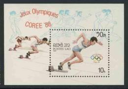 Laos 1987 B 115 - Mi 980 ** Runner Leaving Blocks – Olympic Games Seoul (1988) / Läufer Am Start - Ete 1988: Séoul