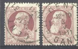 _Me232: N°77-tab: 31* GENT 31*GAND : Postagentschap: Sterstempel - 1905 Grove Baard
