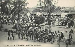 Afrique - Africa -senegal -ref A102-militaires Militaria -regiments - Tirailleurs Senegalais  - Carte Bon Etat   - - Senegal