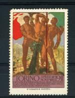 TORINO ESPOSIZIONE INTERN INDUSTRIE LAVORO 50° REGNO ITALIA 1911 ILL DE KAROLIS - Erinnofilia