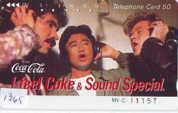 Télécarte Japon * COCA COLA  (1365) TELEFONKARTE * PHONECARD JAPAN *  COKE *  110-26282 - Advertising