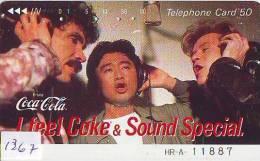 Télécarte Japon * COCA COLA  (1367) TELEFONKARTE * PHONECARD JAPAN *  COKE *  110-26282 - Reclame
