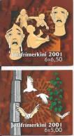 Carnets Des Féroé 2001 N° C408 Et C409 Neufs Noël - Isole Faroer