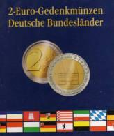 2€-Münz-Album Deutschland 2006-2021 Neu 9€ Für 16 Neue 2EURO-Gedenkmünzen Einklicken Verschiedener Bundesländer Germany - Alben & Binder