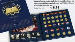 2€-Album 50 Jahre Vertrag Von Rom 2007 Neu 9€ Aller 17 Neuen 2EURO-Gedenkmünzen Zum Einklicken Der Verschiedenen Münzen - Alben & Binder