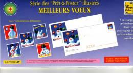 1996 - Enveloppes + Cartes Lot De 5 Prêt à Poster  - Emballage D'origine -  Lettre Monde Entier 20g, Meilleurs Voeux - Postal Stamped Stationery
