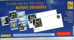 1996 - Enveloppes + Cartes Lot De 5 Prêt à Poster  - Emballage D´origine -  Lettre Monde Entier 20g, Bandes Déssinées - Postal Stamped Stationery