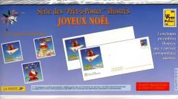 "1996 - Enveloppes + Cartes Lot De 3 Prêt à Poster  - Emballage D'origine -  Lettre Monde Entier 20g, ""Joyeux Noel"" - Postal Stamped Stationery"