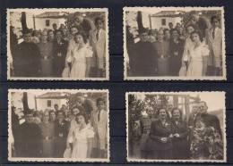 LOTE CON 4 FOTOS ORIGINALES, ALREDEDOR DE 1940, FOTO SÁEZ RIBADEO, RELIGIOSO, GUARDIA CIVIL - Profesiones