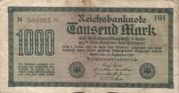 Deutsches Reich - 1000 Mark Gebraucht (C700) - 1918-1933: Weimarer Republik