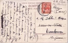 EGYPTE - ALEXANDRIE LE 22-8-1915 POUR TOULOUSE - BELLE CARTE FEMMES ARABES A PORT SAID. - 1915-1921 Protectorat Britannique