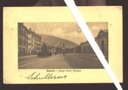 BRESCIA 1910 LARGO PORTA VENEZIA - MILITARI IN MARCIA - VIAGGIATA IN AUSTRIA - Manovre