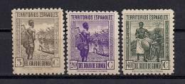 ED. 264/266**, GUINEA ESPAÑOLA, AÑO 1941, SELLOS DE 1931 D. 10 - Guinea Española