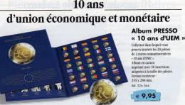 Collector-Album 2€-Europa 2009 Tome 10 Ans De´UEM Neu 9€ 20x 2 EURO-Gedenkmünzen Zum Einklicken Der Verschiedenen Münzen - Alben & Binder