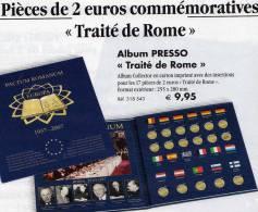 Collector-Album 50 Ans 2€ Traité De Rome 2007 Neu 9€ Der 17x 2 EURO-Gedenkmünzen Zum Einklicken Der Verschiedenen Münzen - Alben & Binder