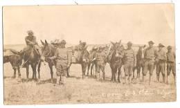 PANAMA Carte Photo Camp ES OTIS Militaria Cavalerie Soldiers US - Panama