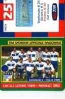 X TIM RICARICA 25 CALCIO SOCCER CON GLI AZZURRI VERSO I MONDIALI 2000 DANIMARCA MAR 2004 - Italia