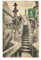 CPA - 50 - LE MONT SAINT-MICHEL - Abbaye - L'Escalier De Dentelle, Vue De Face - J.P. 76 - Le Mont Saint Michel