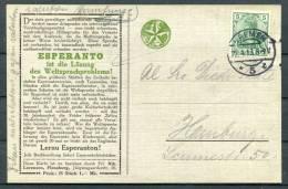 1913 Germany Bremen Esperanto Yacht Postcard - Esperanto