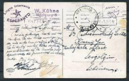 1912 Germany Esperanto Hamburg Postcard - Esperanto