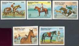 BURKINA FASO - Superbe Série De Chevaux Non  Dentelée - Burkina Faso (1984-...)