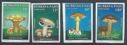 BURKINA FASO - Superbe Série Complète De Champignons Non  Dentelée - Burkina Faso (1984-...)